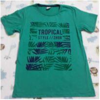 Camisa nova verde Tropical! - 12 anos - Não informada
