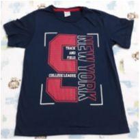 Camisa nova azul marinho 3! - 12 anos - Não informada