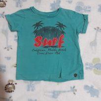 Camisa verde Surf! - 12 a 18 meses - Panela Pano