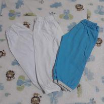 Combo de calças de malha caneladas - 3 a 6 meses - Não informada