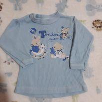 Blusa pijaminha - 6 a 9 meses - junkes baby