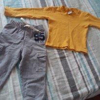 Blusa e calça - 12 a 18 meses - Não informada