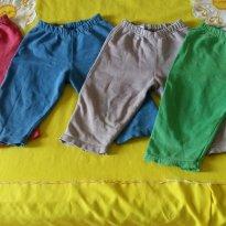 4 Calças de Moletom - 9 a 12 meses - Várias