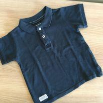 Camiseta Polo Azul Marinho Póim - Tam 1 - 1 ano - Póim