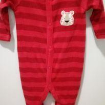 """Macacão listrado """"tigre"""" - 0 a 3 meses - Baby Club"""