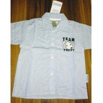 Camisa tricoline/ Pulla bulla(nunca usada) - 9 a 12 meses - Pulla Bulla