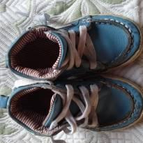 Tênis Infantil Polo Couro Dusk, Branco e Azul - 23 - Toke
