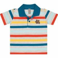 Camisa Polo Listrada/ Tigor T Tigre - 2 anos - Tigor T.  Tigre