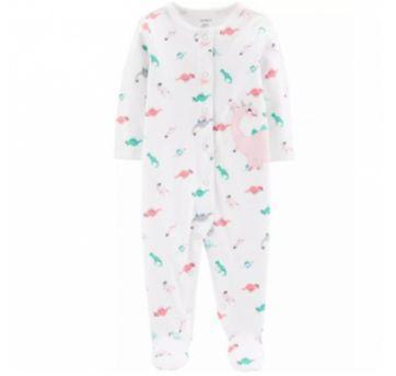 Macacão Pijama Carters- Dinossaura - 6 meses - Carter`s