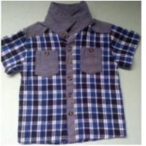 Camisa Xadrez Manga Curta - 3 anos - Plural kids