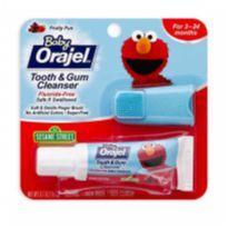 Orajel Baby Gel Dental Infantil Com Escova Dedal De Silicone -  - Orajel