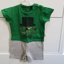 Macacão shorts - 6 a 9 meses - Keko Baby