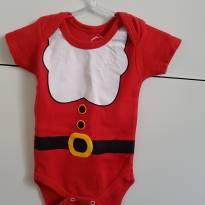 Body papai noel - 3 a 6 meses - Basic + Baby