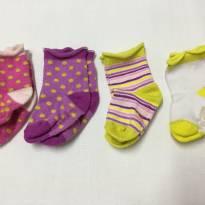Kit 4 Pares de Meias Coloridas Tommy Hilfiger - 6 a 9 meses - Tommy Hilfiger