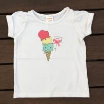 Camiseta Branca Sorvetinho Gymboree - 9 meses - Gymboree
