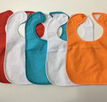 Kit 5 Babadores Impermeáveis - Sem faixa etaria - Importada