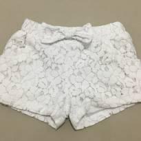 Shorts Rendado Branco - 2 anos - Importado