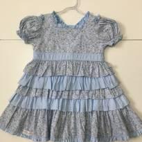 Vestido Azul Claro Floral Beth Bebê - 2 anos - Beth Bebê