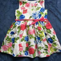 Vestido de Festa ou Passeio Florido Carter`s - 18 meses - Carter`s