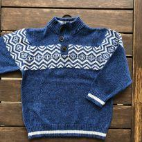 Blusa Suéter em Linha Azul OshKosh