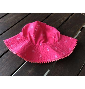 Chapéu de Praia Carter`s Rosa - 18 meses - Carter`s