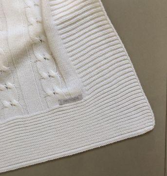 Manta Branca Noruega - Sem faixa etaria - Noruega Baby