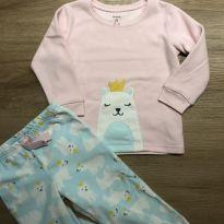 Conjunto Pijama em Fleece Ursinha Carter`s - 2 anos - Carter`s