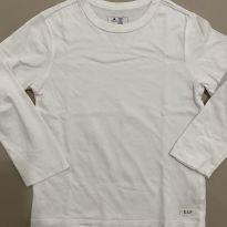 Camiseta Mangas Longas Branca GAP - 5 anos - GAP