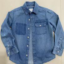 Camisa Jeans Mangas Longas Carter`s - 5 anos - Carter`s