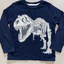 Camiseta Mangas Longas Dinossauro GAP - 5 anos - GAP