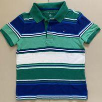 Camisa Polo Listrada Tommy Hilfiger - 6 anos - Tommy Hilfiger