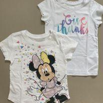 Kit 2 Camisetas Disney e Cat & Jack USA - 2 anos - Cat&Jack e Disney