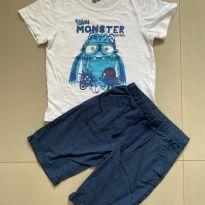 Conjunto Camiseta + Bermuda Marinho Tip Top - 6 anos - Tip Top