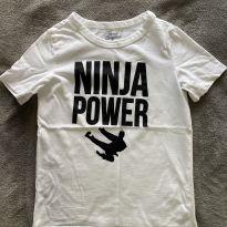 Camiseta Branca Ninja Oskosh B`gosh USA - 7 anos - OshKosh