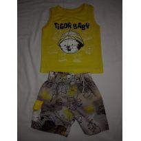 Conjunto Verão Tigor T. Tigre baby - 6 a 9 meses - Tigor Baby