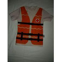 Blusa para praia ou piscina, com proteção solar. - 3 a 6 meses - Puket