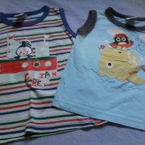 camisetas regatas - 9 a 12 meses - Boca Grande