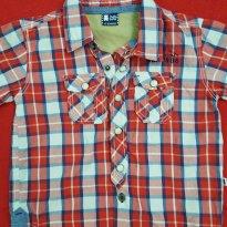 Camisa xadrez - 12 a 18 meses - Teddy Boom