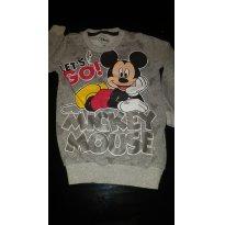 Blusa de moletom Mickey - 1 ano - Não informada