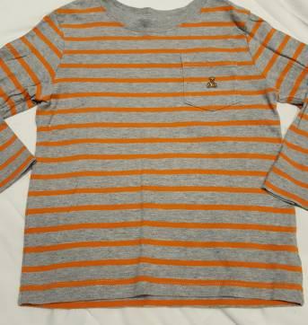 Camiseta listradinha laranja - 2 anos - Baby Gap