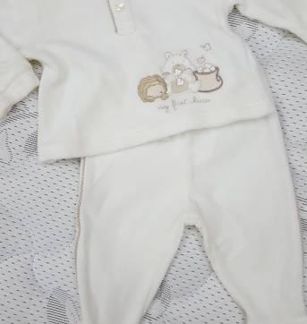 Conjuntinho marfim unissex - Recém Nascido - Chicco