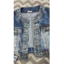 jaquetinha jeans - 10 anos - Miss Trm