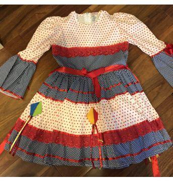 Vestido festa junina - 5 anos - Chicletaria