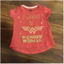 Camiseta mulher maravilha - 4 anos - C&A