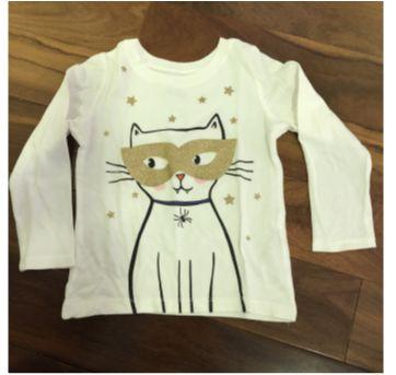Camiseta gato - 3 anos - Carter`s