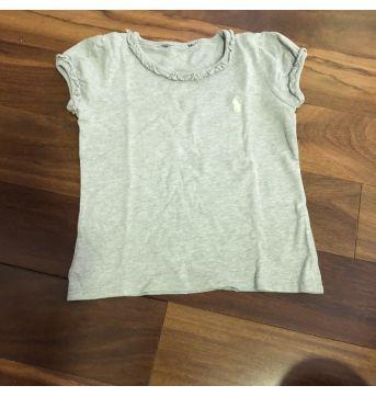 Camiseta cinza básica - 2 anos - Ralph Lauren