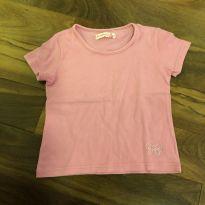 Camiseta básica rosa - 4 anos - Figurinha