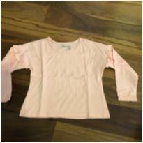 Camiseta manga longa rosa - 4 anos - Figurinha