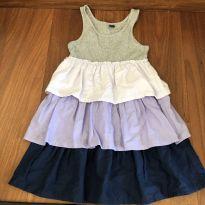 Vestido tricolor - 4 anos - Baby Gap