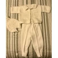 Conjunto em trico para bebe - 3 meses - Não informada